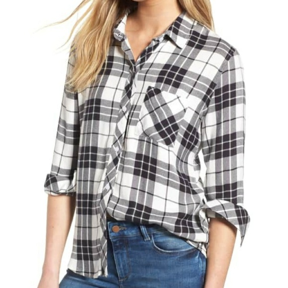 d9eac4808 Rails Tops | The Softest Plaid Shirt Snow Navy Forest | Poshmark